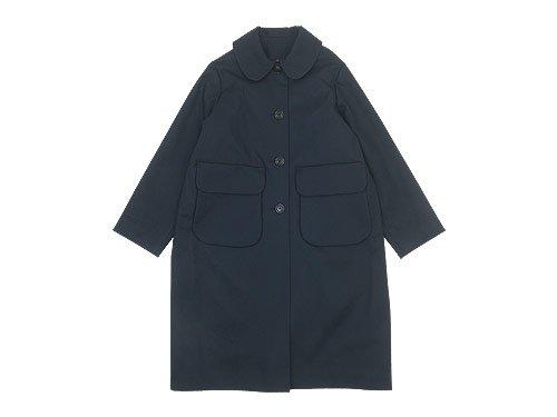 Lin francais d'antan Carra(カルラ) Round Collar Coat Cotton NAVY