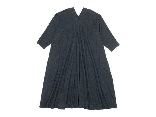 Lin francais d'antan Noiret(ノワレ) tent dress GRAY