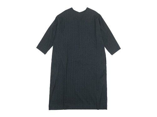 Lin francais d'antan Calder(カルダー) crew neck one-piece GRAY