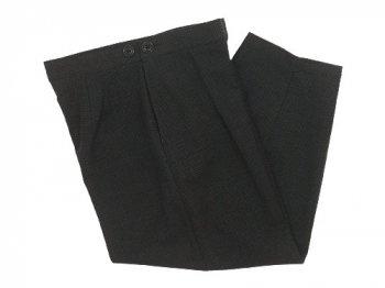 Lin francais d'antan Salvador(サルヴァドール) tack pants Cotton BROWN x BLACK CHECK
