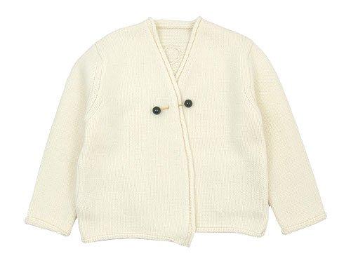 Lin francais d'antan Degas(ドガ) Wool Cashmere Knit Cardigan WHITE