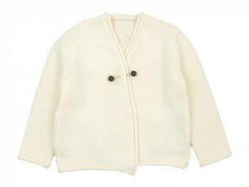 Lin francais d'antan Degas(ドガ) Wool Cashmere Knit Cardigan WHITE