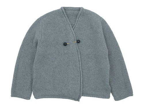 Lin francais d'antan Degas(ドガ) Wool Cashmere Knit Cardigan GRAY