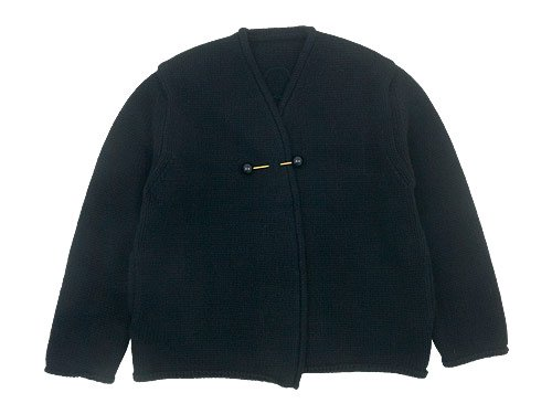 Lin francais d'antan Degas(ドガ) Wool Cashmere Knit Cardigan BLACK