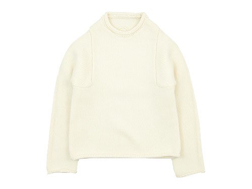 Lin francais d'antan Mullan(マラン) Wool Cashmere Knit WHITE