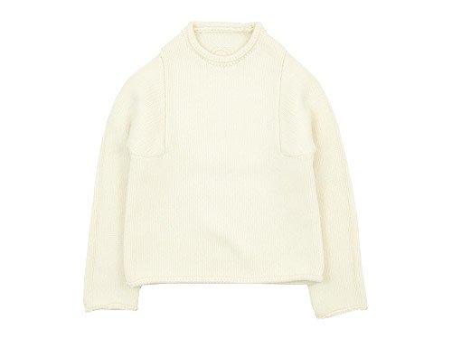 Lin francais d'antan Mullan(マラン) Wool Cashmere Knit WHITE