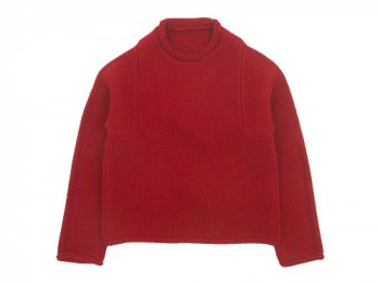 Lin francais d'antan Mullan(マラン) Wool Cashmere Knit RED