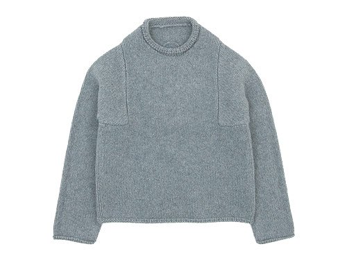Lin francais d'antan Mullan(マラン) Wool Cashmere Knit GRAY