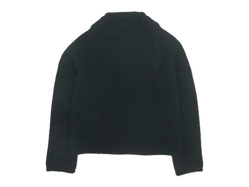Lin francais d'antan Mullan(マラン) Wool Cashmere Knit BLACK