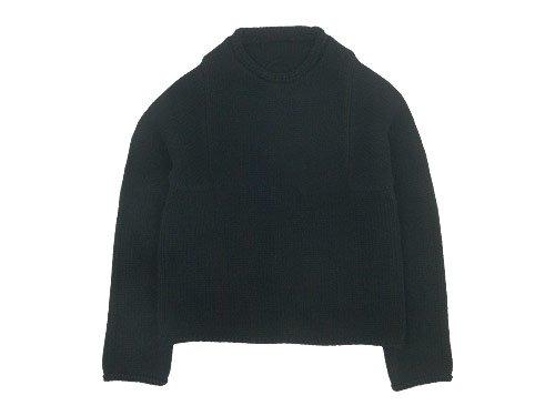 Lin francais d'antan Mullan(マラン) Wool Cashmere Knit BLACK