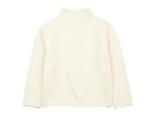 Lin francais d'antan Kubin(クービン) Wool Cashmere Turtle Knit WHITE