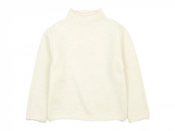 Lin francais d'antan Kubin(クービン) Wool Cashmere Turtle Knit WHITE
