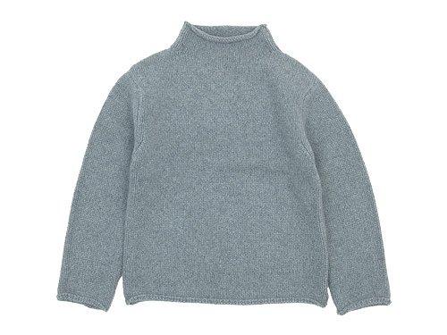 Lin francais d'antan Kubin(クービン) Wool Cashmere Turtle Knit GRAY