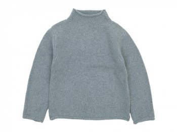 Lin francais d'antan Kubin(クービン) Wool Cashmere Turtle Knit GRAY