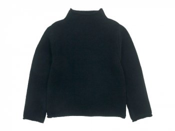 Lin francais d'antan Kubin(クービン) Wool Cashmere Turtle Knit BLACK