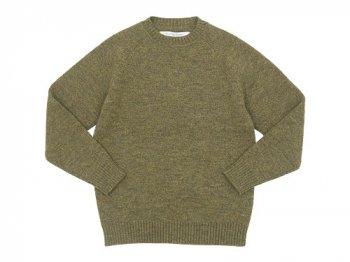 EEL ノルディックセーター 53YELLOW GREEN