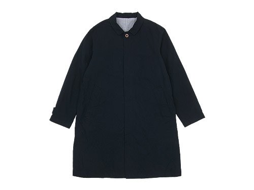 RINEN 40/2高密度平織 ステンカラーコート 05NAVY 〔メンズ〕