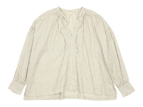 ordinary fits FLORIST BLOUSE WHITE STRIPE