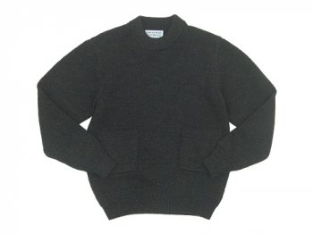 ENDS and MEANS Grandpa Knit BROWN CHARCOAL