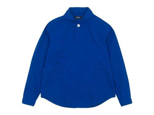 LOLO コットンプルオーバーシャツ BLUE