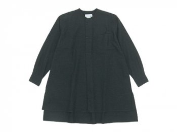 blanc atelier smock TOP CHARCOAL