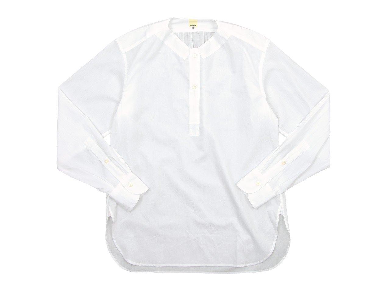 TATAMIZE NO COLLAR SHIRTS WHITE