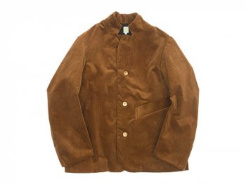 TATAMIZE STAND COLLAR JACKET BROWN