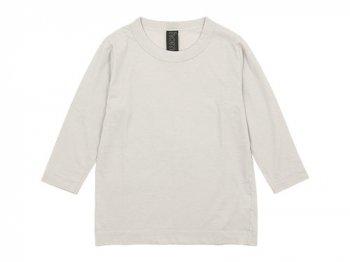 homspun 天竺七分袖Tシャツ ライトグレー