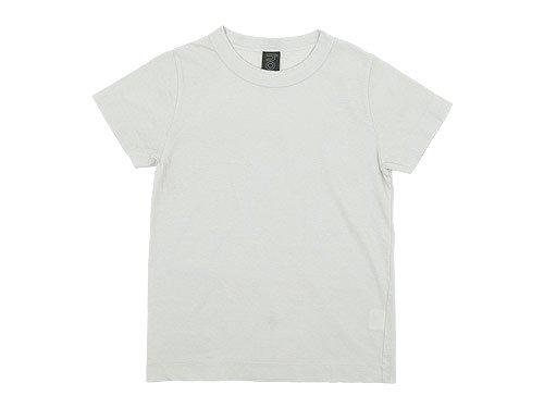 homspun 天竺半袖Tシャツ ライトグレー