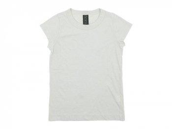 homspun 天竺フレンチスリーブTシャツ ライトグレー