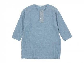 TOUJOURS Big Henley Neck Shirt HEATHER INDIGO 【KM29BS04】