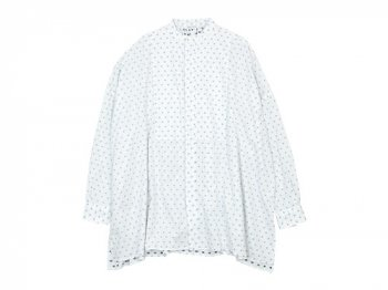 TOUJOURS Back Gathered Bosom Shirt WHITE FACE 【KM29BS02】
