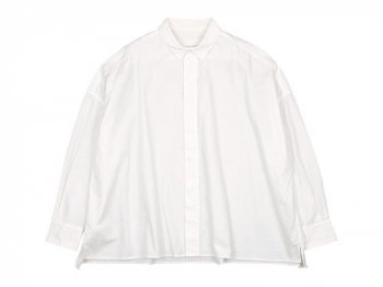 TOUJOURS Fly Front Square Collar Wide Shirts WHITE 【KS29FS01】