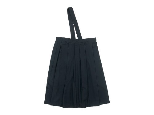 TOUJOURS One Shoulder Random Pleated Skirt BLACK 【TM29GK01】