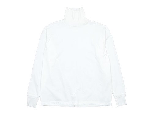 TOUJOURS Turtle Neck Pullover WHITE 【LM29XC07】
