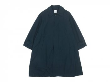 TOUJOURS Oversized Flared Soutien Collar Coat NAVY【VM29IC02】