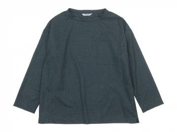 TOUJOURS Long Sleeve Big Pocket T-shirt DARK GRAY 【VM29MS01】