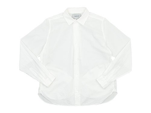 YAECA コンフォートシャツ リラックス WHITE 〔レディース〕