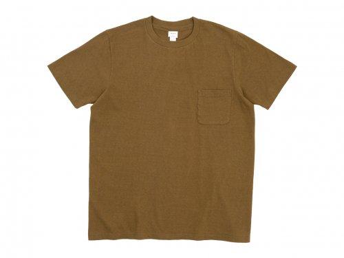 YAECA STOCK ポケットTシャツ BROWN 〔レディース〕