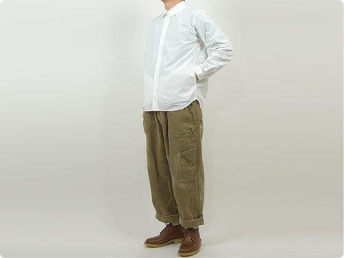 YAECA コンフォートシャツ リラックス WHITE 〔メンズ〕