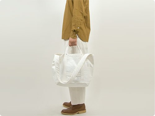 YAECA ツールバッグ MEDIUM cotton WHITE