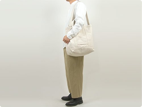YAECA ツールバッグ LARGE cotton NATURAL