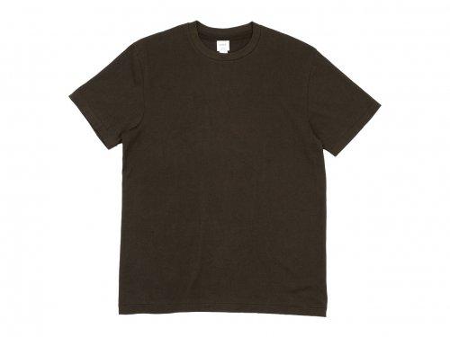 YAECA STOCK 丸胴シルクタッチ 半袖Tシャツ 〔メンズ〕