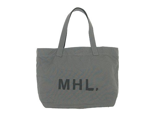 MHL. HEAVY COTTON CANVAS TOTE BAG 020GRAY