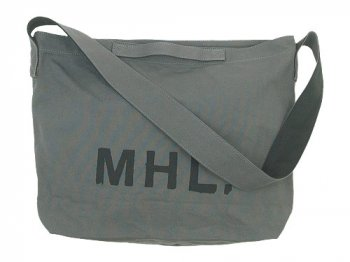 MHL. HEAVY COTTON CANVAS SHOULDER BAG 020GRAY