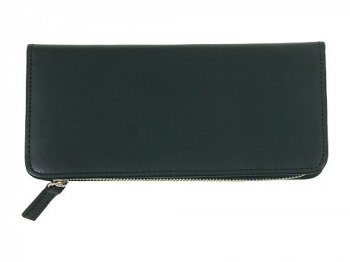 MARGARET HOWELL x PORTER OIL LEATHER LONG WALLET 010BLACK