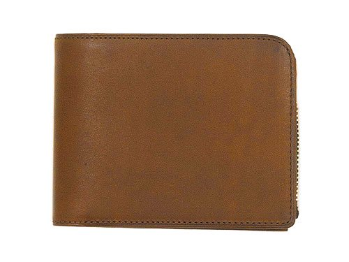 MARGARET HOWELL x PORTER OIL LEATHER FOLDED WALLET 050BROWN
