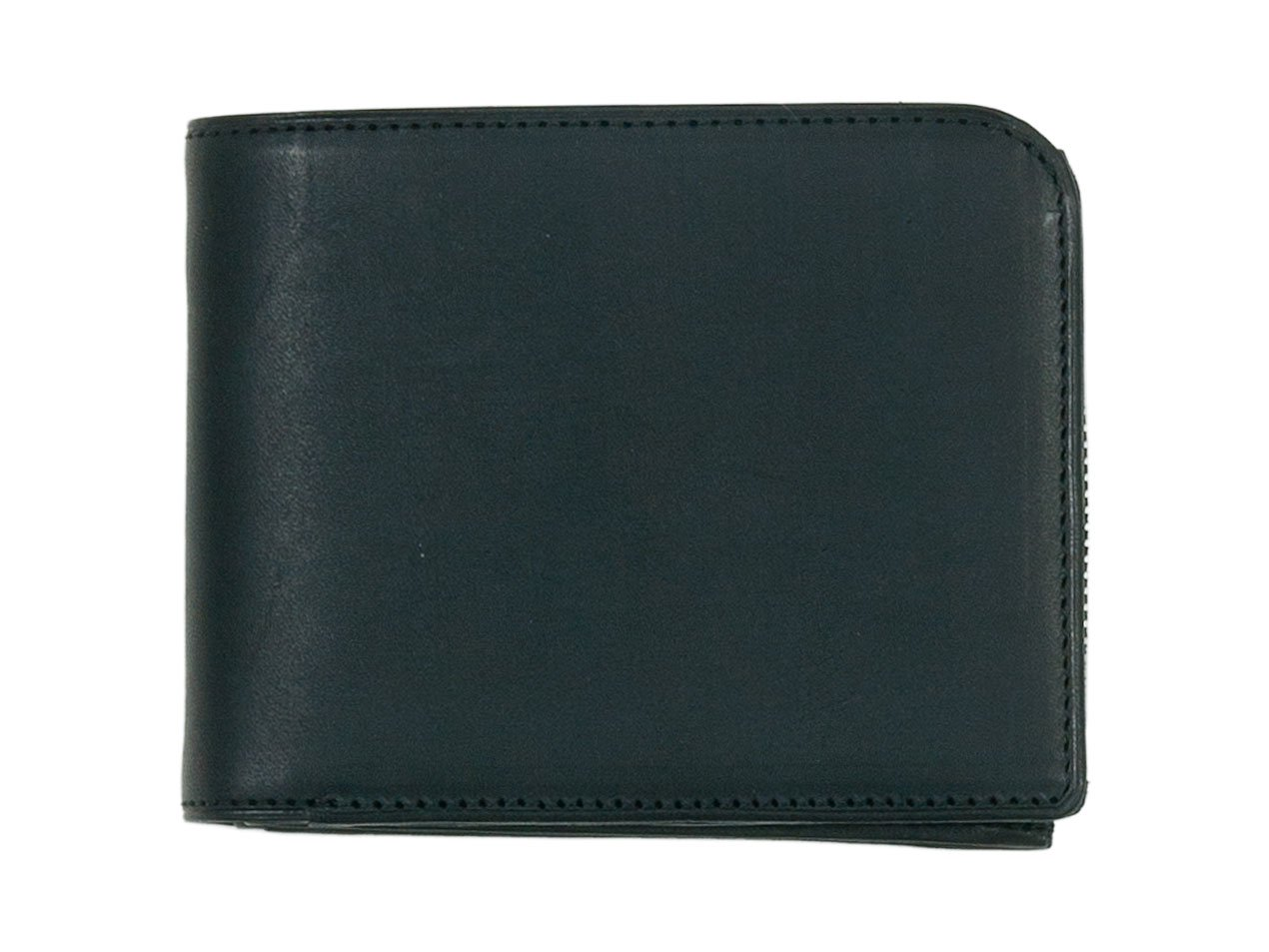 MARGARET HOWELL x PORTER OIL LEATHER FOLDED WALLET 010BLACK