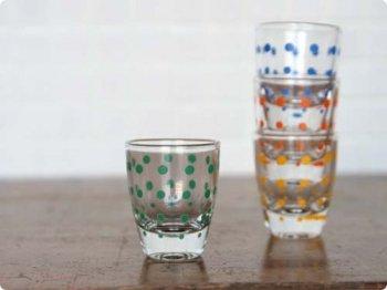 水玉ショットグラス グリーン