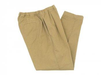 maillot mature drawstring tuck pants KHAKI BEIGE
